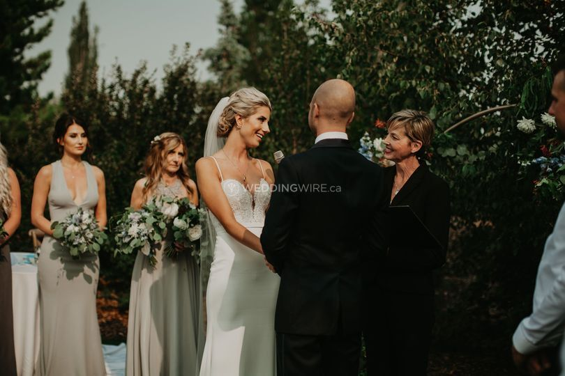 A Bride's Smile!