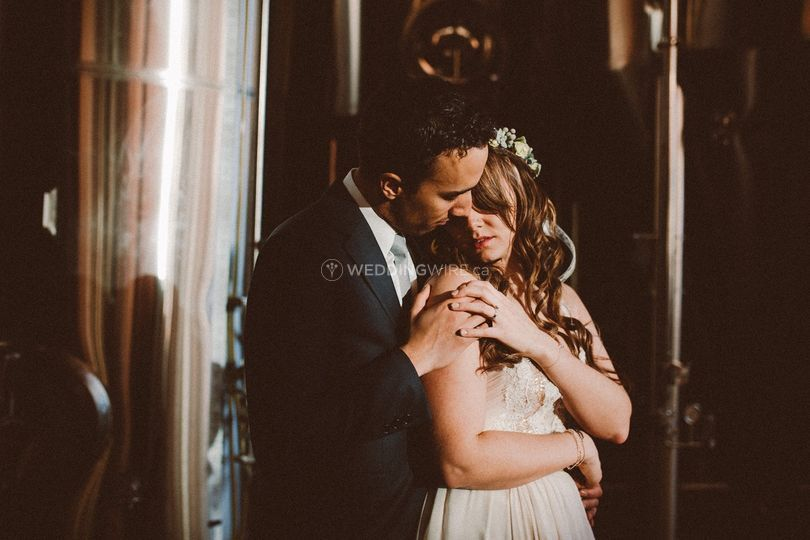 Beaumont, Alberta bride and groom