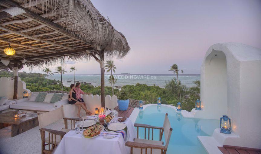 Private dining in Zanzibar