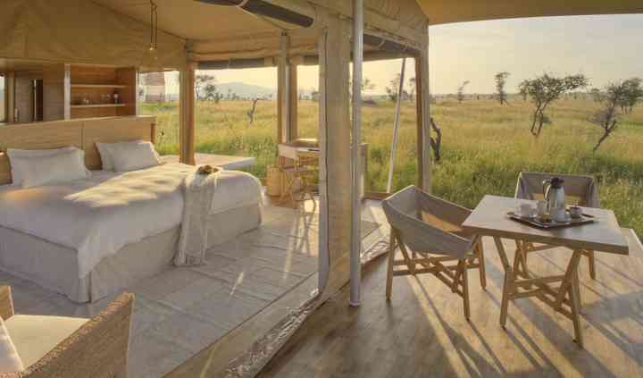 Honeymoon tent in Serengeti