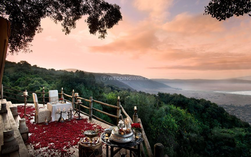 Private dining in Ngorongoro