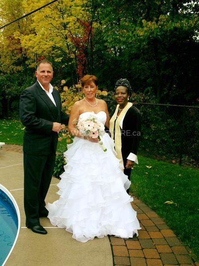 Martin, Linda & Me Poolside