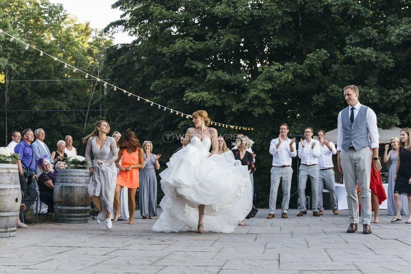 Bride battles