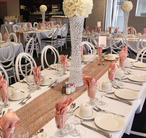 Wedding Rosegold Decor
