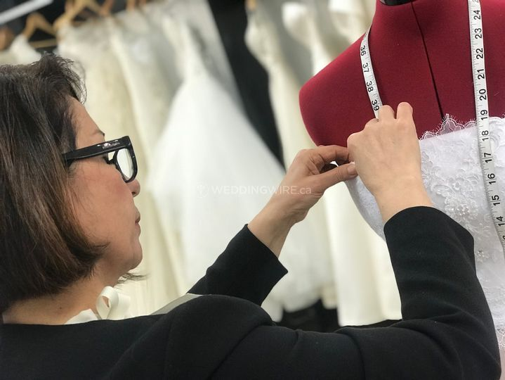 We custom-make dresses, too!