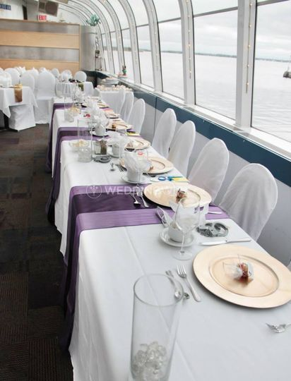 Kingston, Ontario boat wedding reception