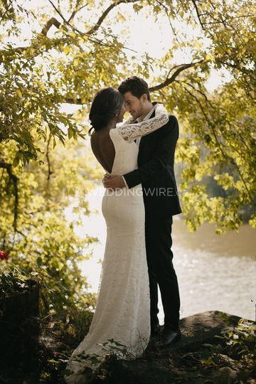 A wedding by the water