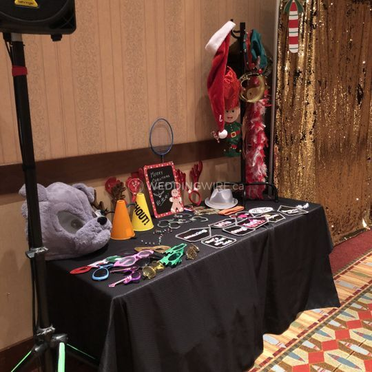Photo Booth Props Table 2