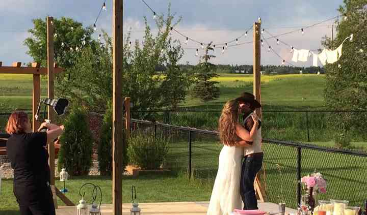 Small, Backyard wedding.