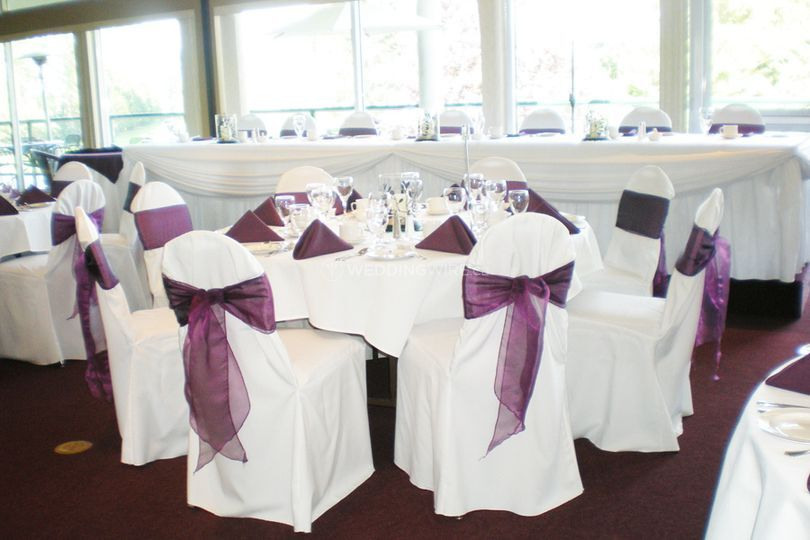 Eggplant sashes with white