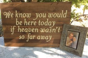 Kippys Korner Signs, Custom Wedding,Rustic country wedding signs