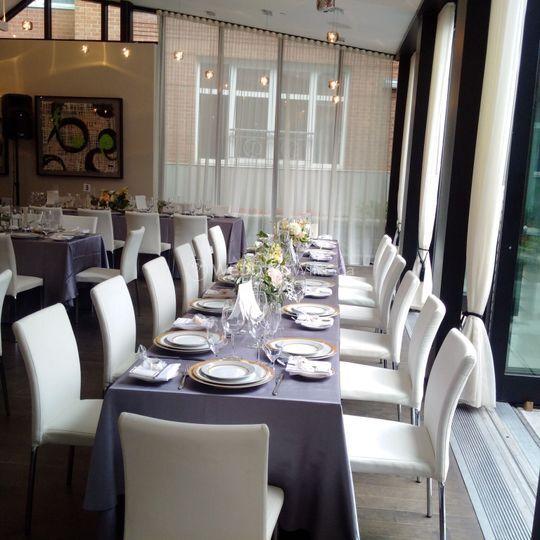 Dinner long tables