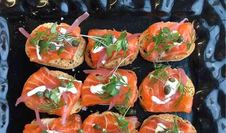 House Cured Salmon Crostini