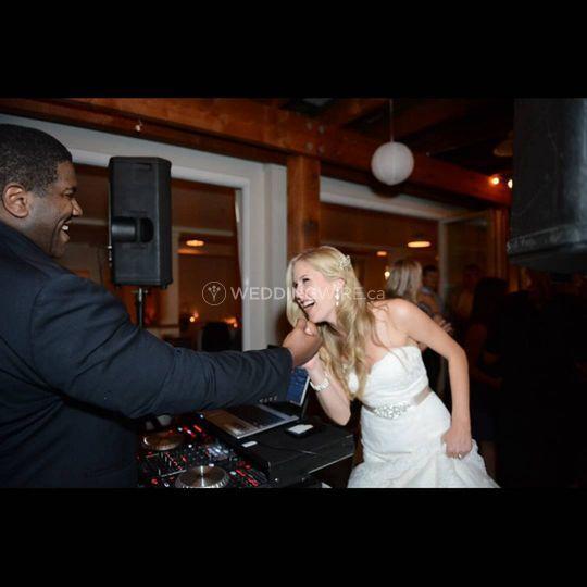 DJ Les and a happy bride!
