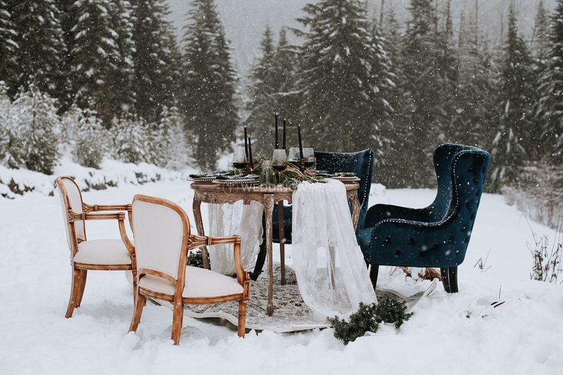 Whistler winter tablescape