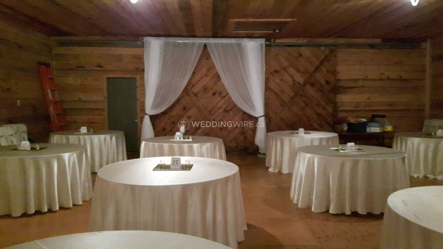 Tables, Linen and barn door