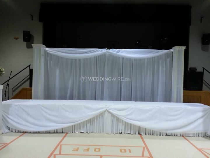 Simple head table