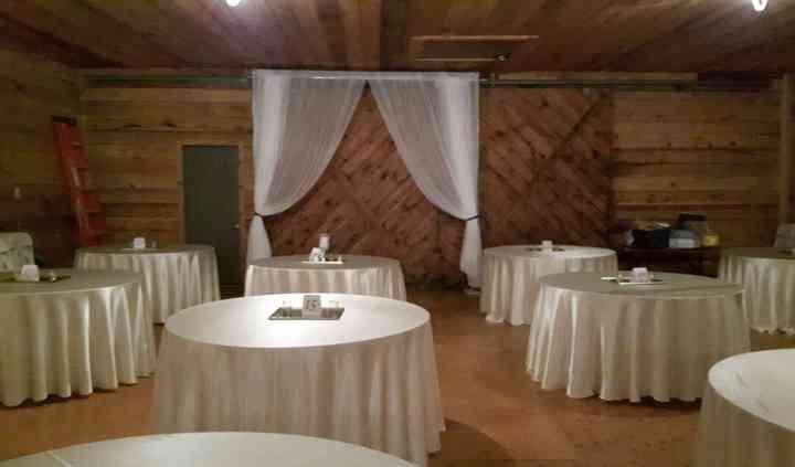 Tables, Linen and barn door
