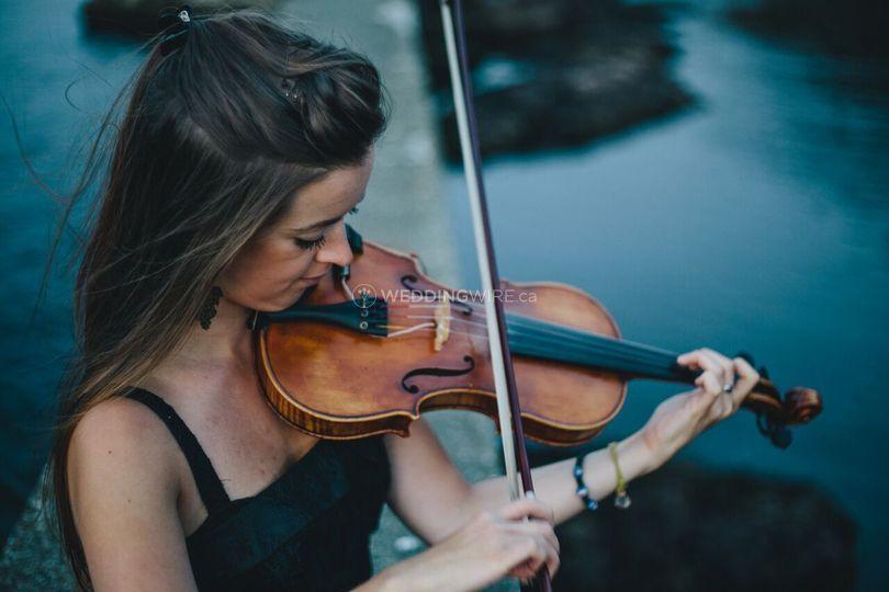 Solo violinist / fiddler