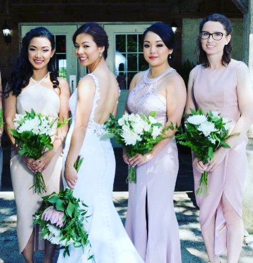 Bridal and bridal party makeup
