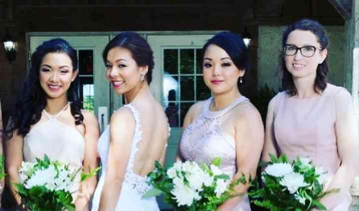 Bridal and bridal party makeup