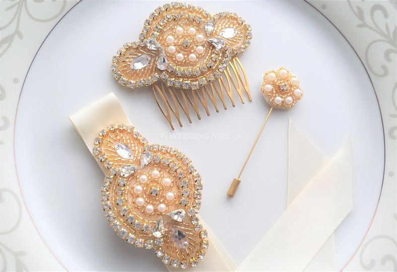 Hair Comb, Corsage & Lapel Pin