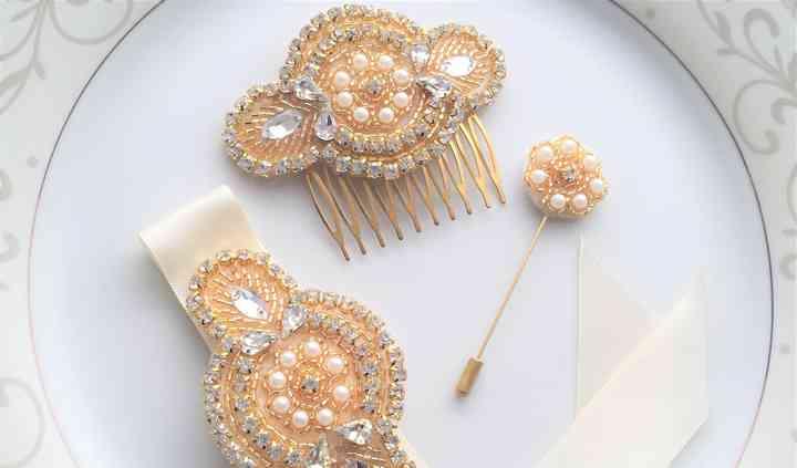 Hair Comb, Corsage & Lapel Pin