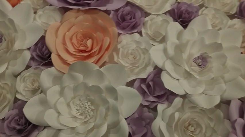 Paper flowers video decoration centre phoenix video weddingwire paper flowers video mightylinksfo
