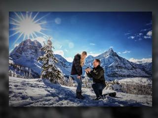 Winter wonderland Mountain top Proposal