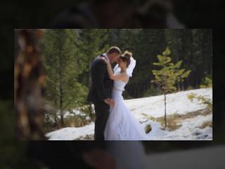 Spring wedding in Banff