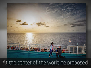 Proposal at the center of the world