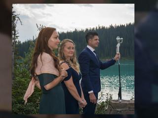 Intimate wedding at Lake Louise