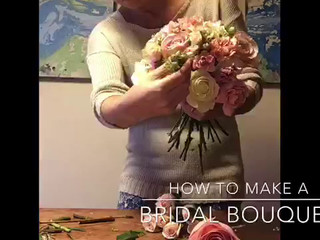 Behind the scenes of a bridal bouquet