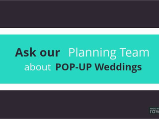 POP-Up Weddings