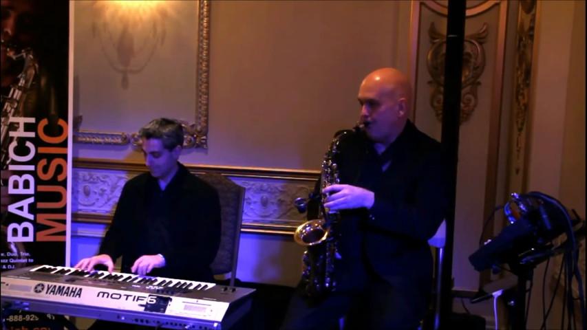 Igor Babich saxophone & keyboard duo - The Christmas song