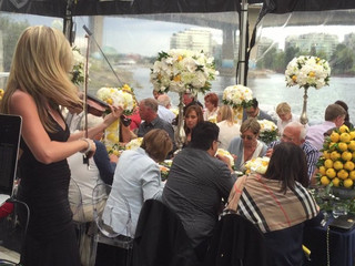 Vancouver wedding on yacht