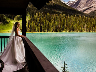 E and M Adventure Elopement at Emerald Lake Lodge