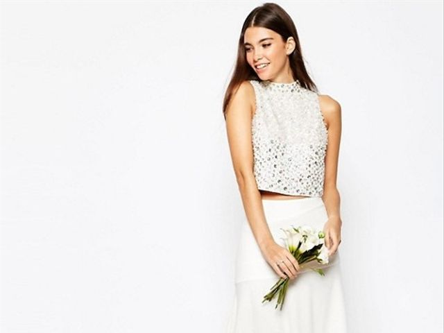 36 Two-Piece Bridal Outfits That'll Make You Want to Ditch the Dress
