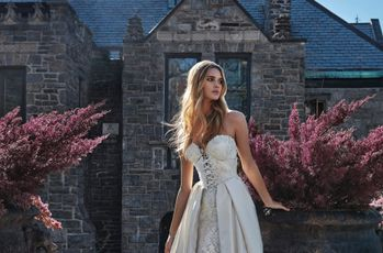 16 Silver Wedding Dresses for Every Style of Bride
