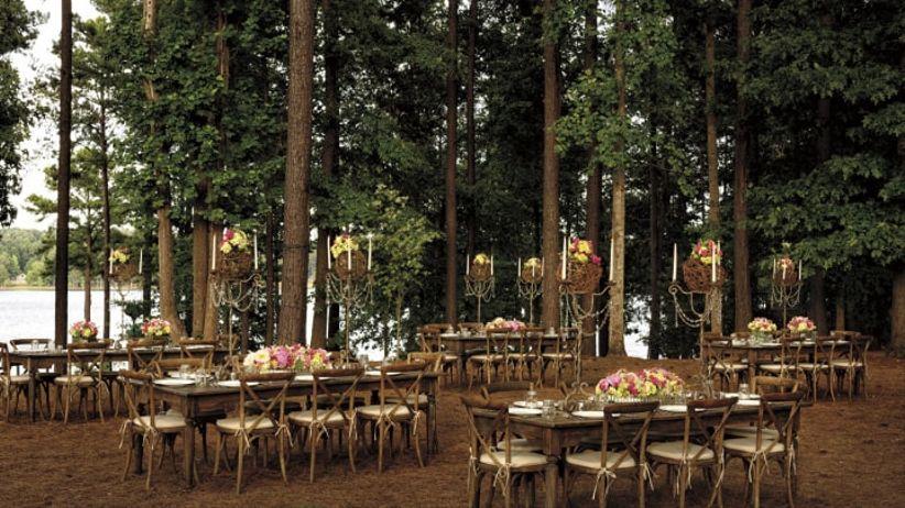 Outdoor summer wedding reception
