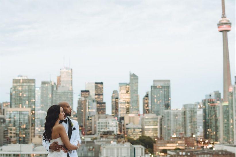 Outdoor Toronto wedding venue with a view