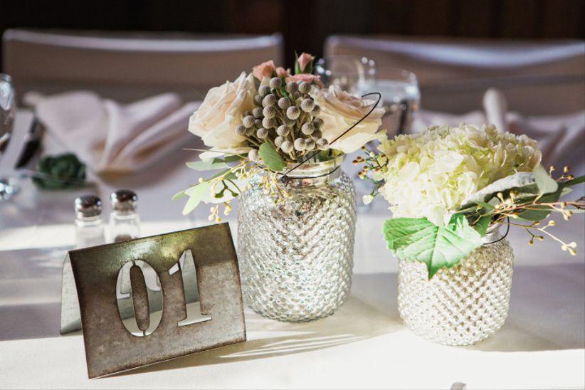 Pierced metal wedding table number