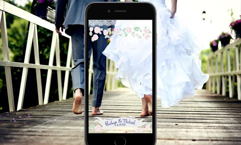 Custom wedding Snapchat filter