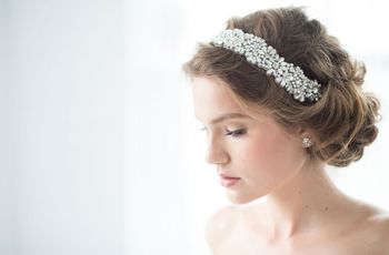 23 Bedazzled Bridal Hairstyles to Steal for Your Wedding Day