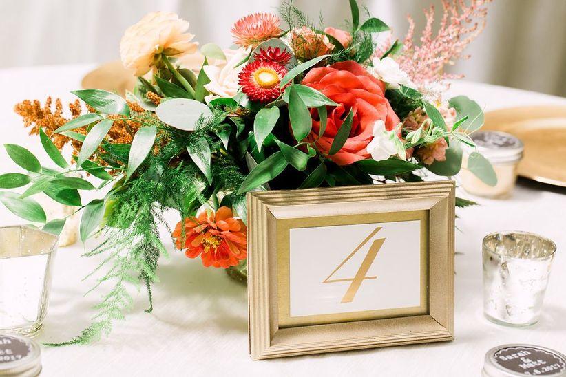 Framed wedding table number