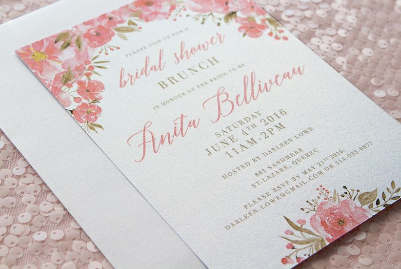 What A Wedding Invitation Should Say: Bridal Shower Invitation Wording Tips And Ideas