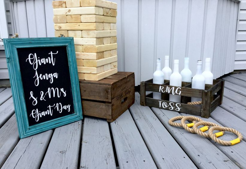 Giant Jenga and Ring Toss Games