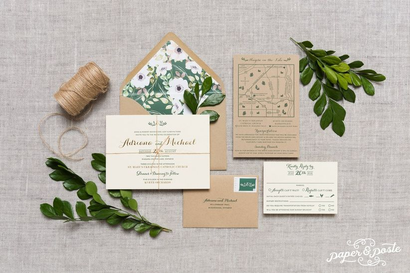 Rusticwedding invitation