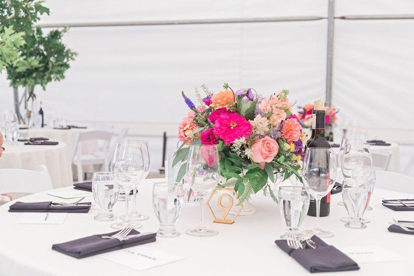 Geometric wedding table numbers