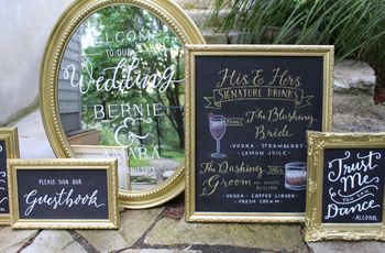 10 Creative Ways to Use Wedding Chalkboard Signs